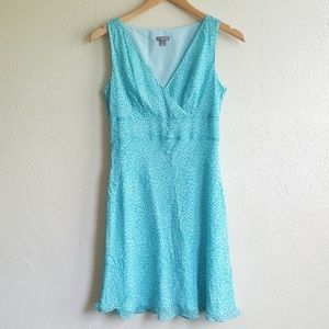 Ann Taylor green silk wrap dress